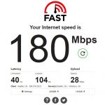 Fast.com 180Mbps